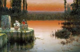 Enrique Serra - Flooded Ruins at Sunset