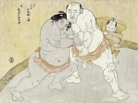 Katsukawa Shunsho - The Match Between Tanikaze Kajinosuke and Kimenzan Tanigoro