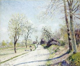 Alfred Sisley - The Road from Veneux to Moret