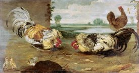 Frans Snyders - A Cock Fight