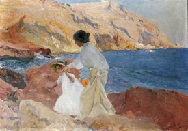 Joaquin Sorolla y Bastida - Clotilde and Elena On The Rocks, Javea