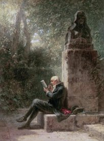 Carl Spitzweg - The Philosopher (The Reader In The Park)