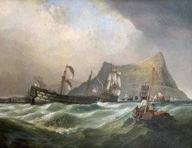 Clarkson Stanfield - Neptune, Towing The Victory Into Gibraltar Harbour After The Battle of Trafalgar