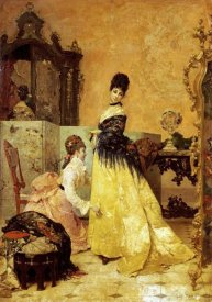 Alfred Stevens - The New Dress