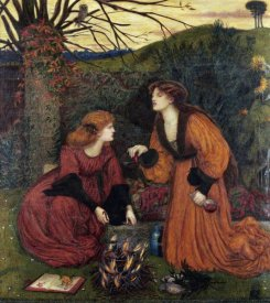 Marie Spartali Stillman - Pharmakeutria (Brewing The Love Philtre)