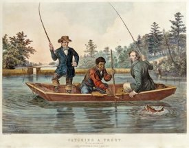 Arthur Fitzwilliam Tait - Catching a Trout - We Hab You Now, Sar!
