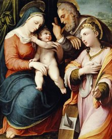 Pellegrino Tibaldi - The Holy Family With Saint Catherine