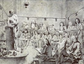 Giovanni Battista Tiepolo - Piazzetta's Academy: Artists Drawing a Nude
