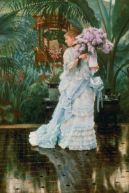 James Jacques Tissot - The Bunch of Lilacs