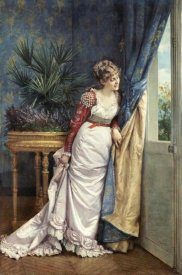 Auguste Toulmouche - Awaiting The Visitor