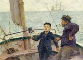 Henry Scott Tuke - The Steering Lesson