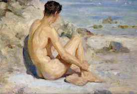 Henry Scott Tuke - Boy On a Beach