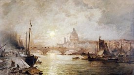Franz Richard Unterberger - The Pool of London