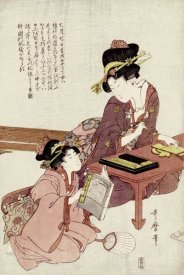 Kitagawa Utamaro - A Young Woman Seated