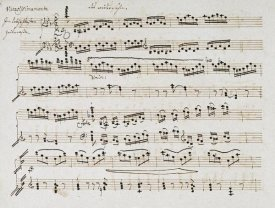 Ludwig Van Beethoven - Manuscript of The Second and Third Movements, Piano Sonata In E Flat