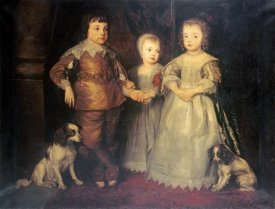Sir Anthony Van Dyck - The Children of King Charles I