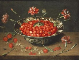 Jacob Van Hulsdonck - Strawberries In a Bowl