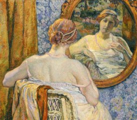 Theo Van Rysselberghe - Woman In a Mirror