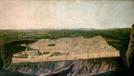 Jean-Baptiste Vanmour - A Panoramic View of Jerusalem