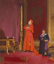 Jean Georges Vibert - A Cardinal Looking at Napoleon's Throne