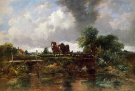 Frederick Waters Watts - A Wooded River Landscape