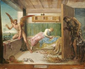 George Frederick Watts - When Poverty Comes In at The Door, Love Flies Out of The Window