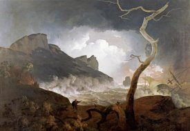 Joseph Wright - The Storm, Antigonus Pursued By The Bear