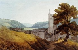 John White Abbott - From The Churchyard at Dulverton, Somerset