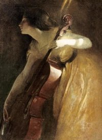 John White Alexander - A Ray of Sunlight (The Cellist)