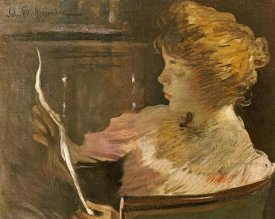 John White Alexander - Jesse Steele Reading