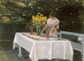 Michael Ancher - Preparing The Table