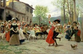 Federigo Andreotti - Silks and Satins at The Wedding Dance