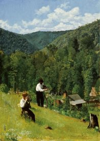 Thomas Pollock Anshutz - The Farmer and His Son at Harvesting