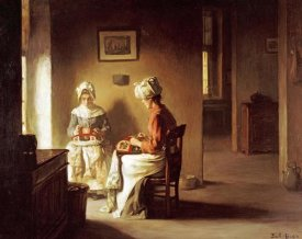 Joseph Bail - Seamstresses In An Interior