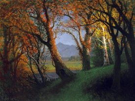 Albert Bierstadt - Sunset In The Nebraska Territory