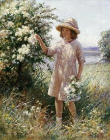 William Kay Blacklock - Picking May Blossom