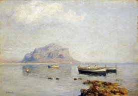 Giuseppe Carelli - A Calm With Fishing Boats In The Bay of Naples