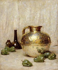Soren Emil Carlsen - Still Life With Green Peppers and Jug
