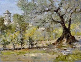 William Merritt Chase - Olive Trees In Florence