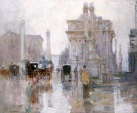 Paul Cornoyer - After The Rain, The Dewey Arch, Madison Square Park, New York