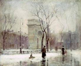 Paul Cornoyer - Winter In Washington Square