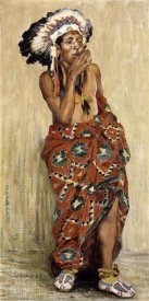 Eanger Irving Couse - Indian With Blanket