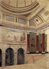 John Dibblee Crace - The Entrance Hall of The National Gallery, London