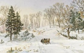 Jasper Francis Cropsey - Winter on Ravensdale Road, Hastings-On-Hudson, New York