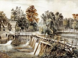 Currier and Ives - The Mill-Dam at Sleepy Hollow