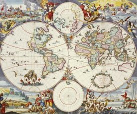 Cornelis Danckerts - Map of The World