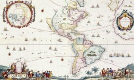 Cornelis Danckerts - Map of The Americas, 1696