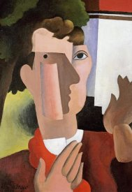 Roger De La Fresnaye - Man With a Red Scarf