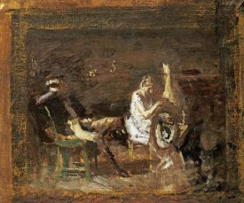 Thomas Eakins - Study For Courtship