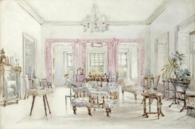 Col. Lionel Grimston Fawkes - The Drawing Room of Queen's House, Barbados, 1880